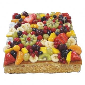 Vruchten Taart Vierkant