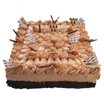 Chocolade taart vierkant