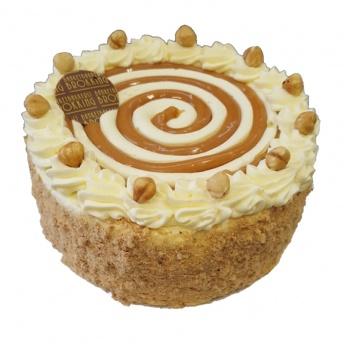 Hazelnoot creme caramel taart